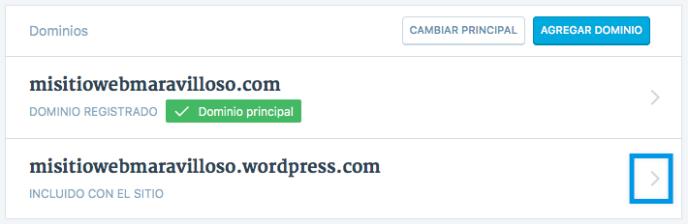 seleccionar dominio
