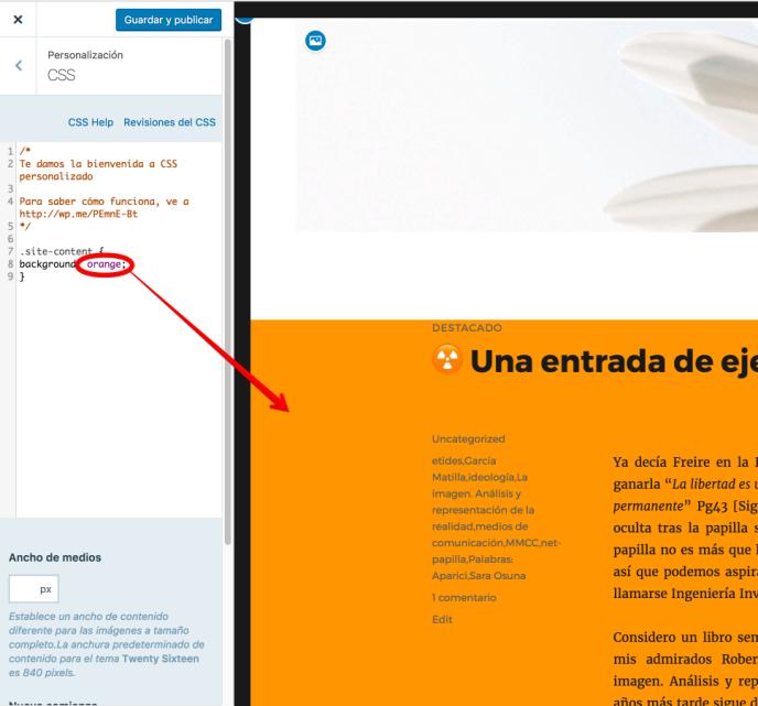 Cómo añadir CSS personalizados — Servicio de ayuda — WordPress.com