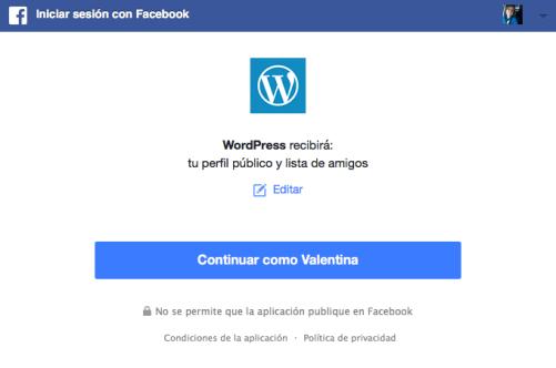 conectar con facebook