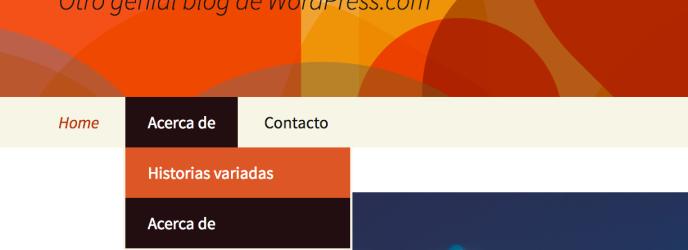 Menús personalizados — Servicio de ayuda — WordPress.com